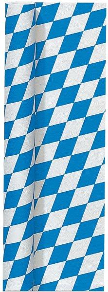 Tischtuchrolle Papier, Blau, Weiss, 1 x 8 m