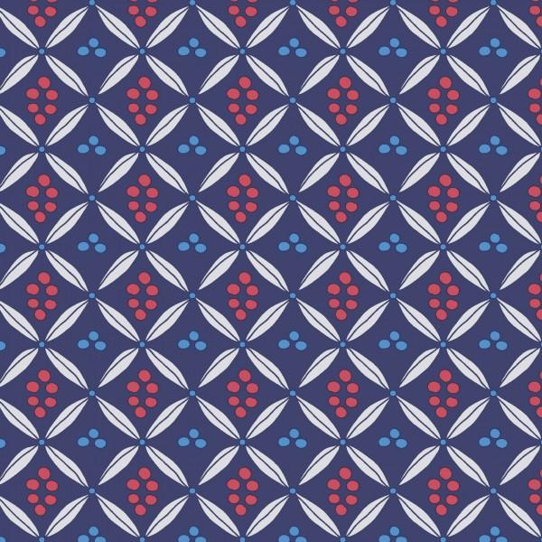 Papierservietten, rot, blau, violett, 40x40cm