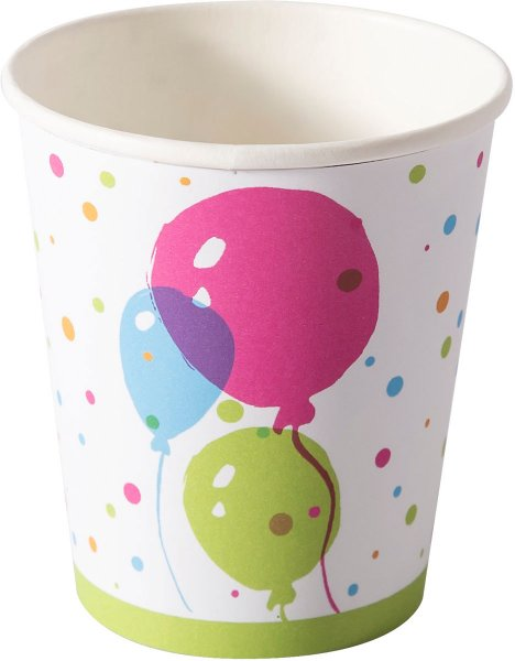 Pappbecher, splash balloons, 20 cl
