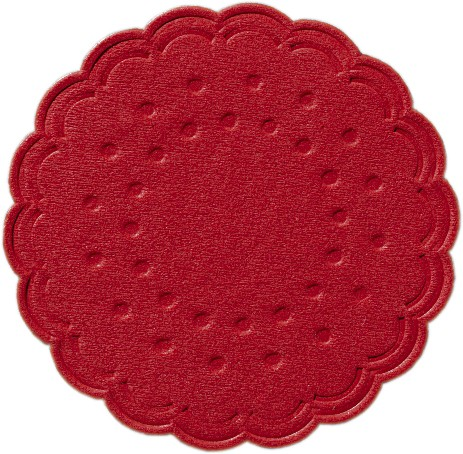 Papieruntersetzer 8-lagig Ø 7,5 cm, Tissue Uni «rot»