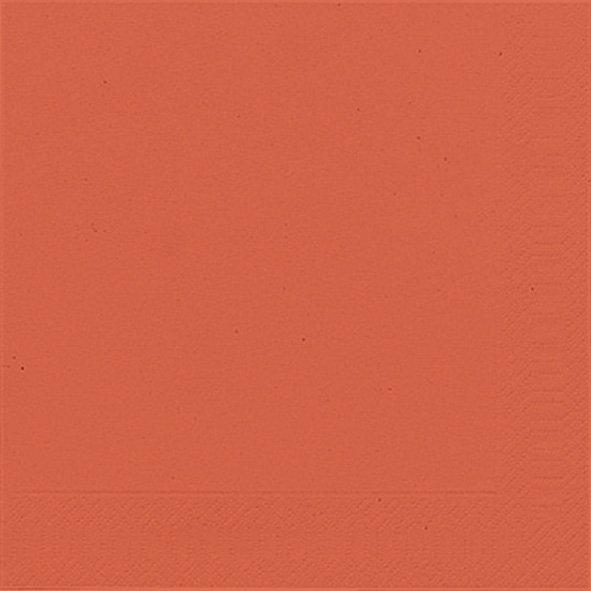Papierservietten einfarbig, orange, 33x33cm