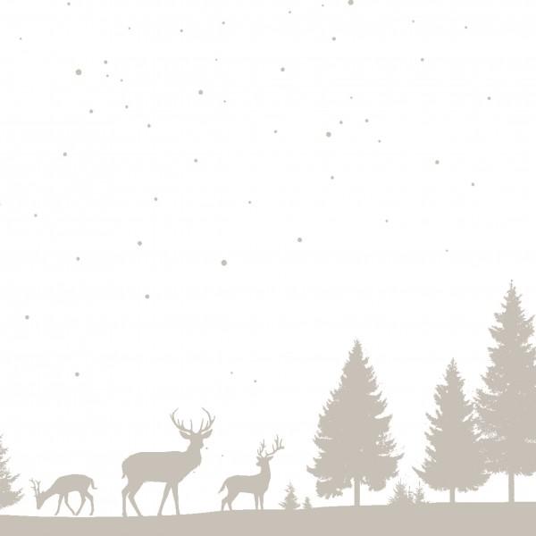 Papierservietten, Winterland, 24x24cm
