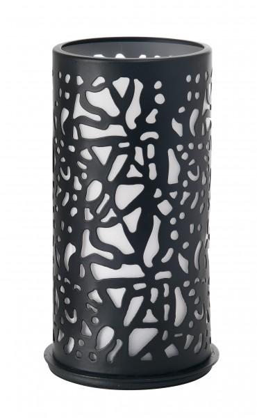 Twist Kerzenhalter, Metall, schwarz, 140 x 75mm