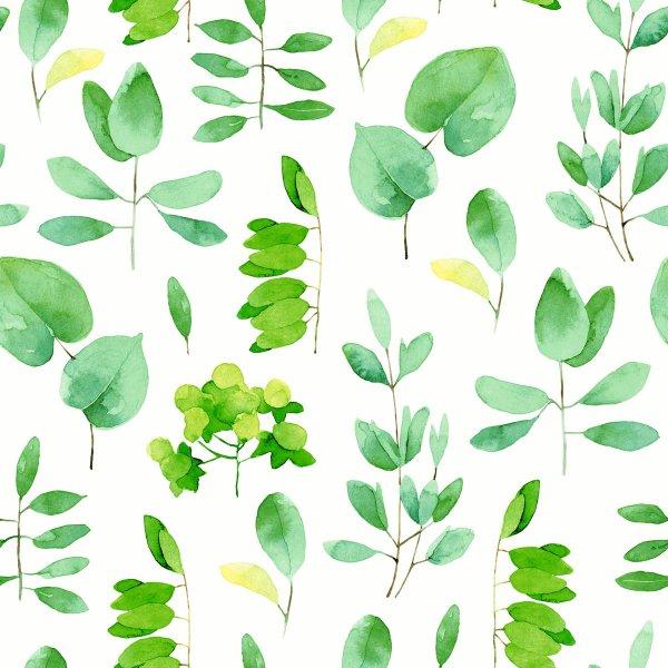 Papierservietten, weiss, grün, 24x24 cm