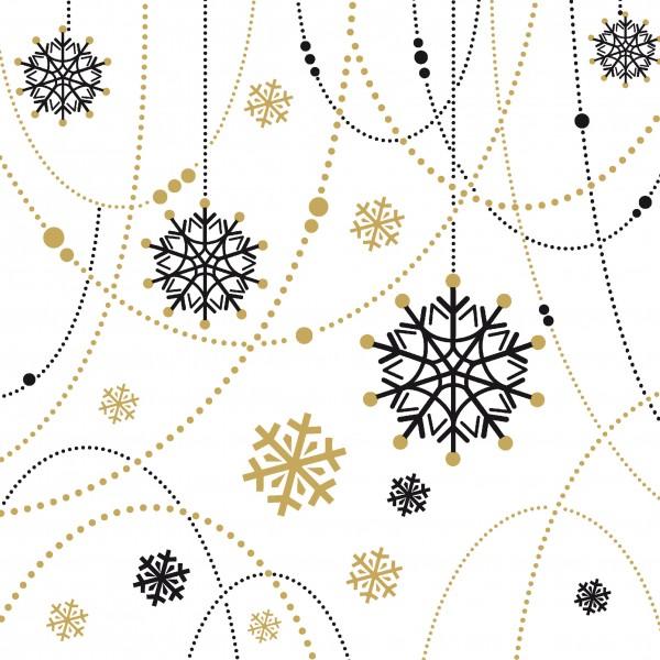 Papierservietten, Snow Necklace White, 33x33cm