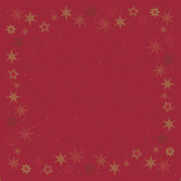 Mitteldecke Papier, Rot, 84 x 84 cm