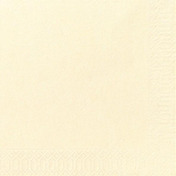 Papierservietten, creme, 24 x 24 cm