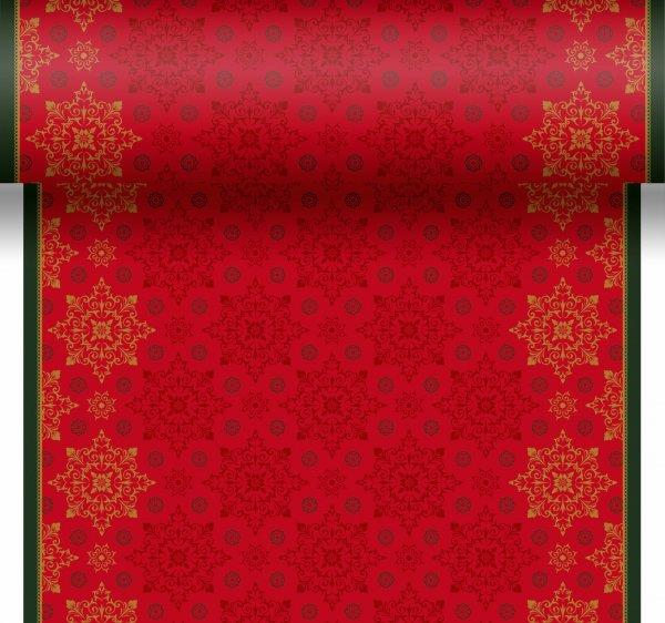 Tischset, Tischläufer, Tête-à-Tête Papier, Rot, Grün, 40 x 480 cm