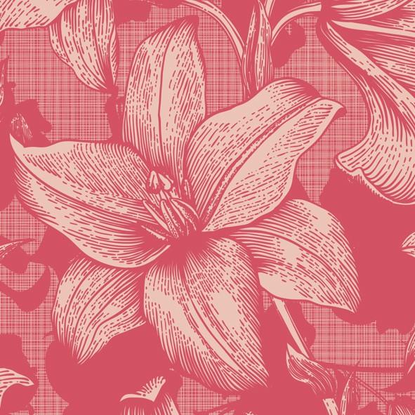 Papierservietten , Rot, 24 x 24 cm