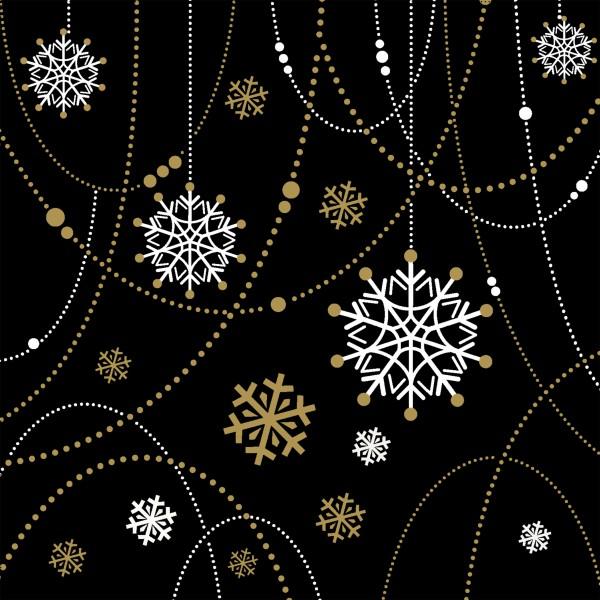 Papierservietten, Snow Necklace, 33 x 33 cm