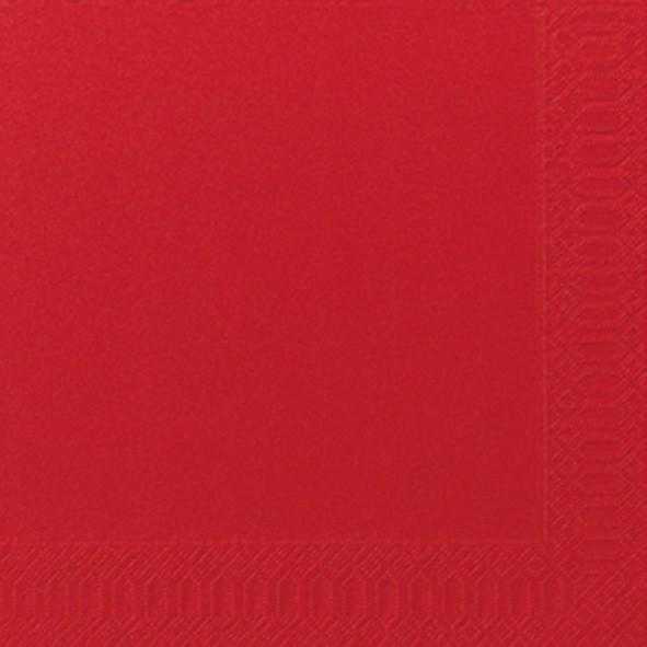 Papierservietten, Rot, 40 x 40 cm
