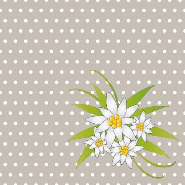 Papierservietten, grau , 24x24 cm, Edelweiss, Grey
