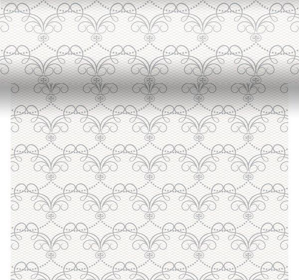 Tischset, Tischläufer, Tête-à-Tête Papier, Weiss, Grau, 40 x 480 cm