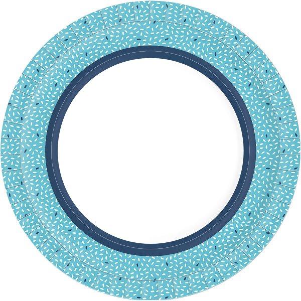 Bio Pappteller, blau, ø 22 cm