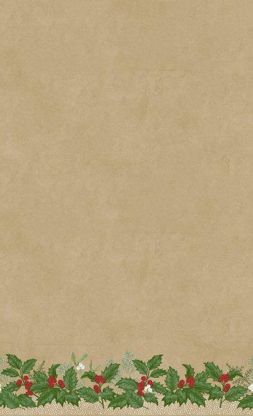 Tischdecke Dunicel, Beige, Grün, 138 x 220 cm