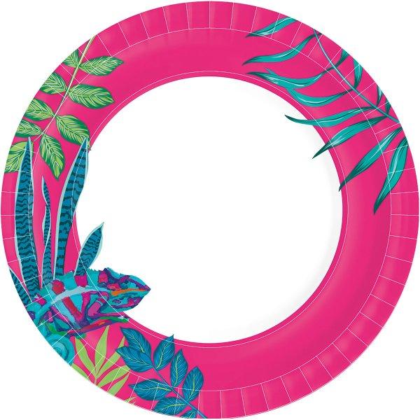 Pappteller, pink, ø 22 cm