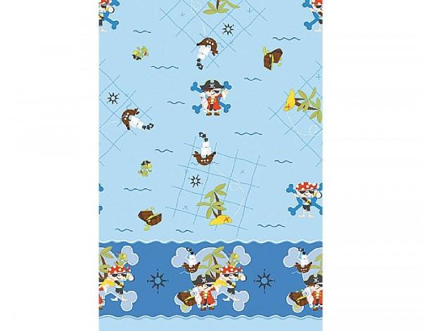Tischdecke Papier, blau, 118x180cm
