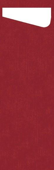 Bestecktasche Papier, rot, 7x23 cm