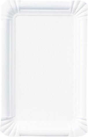 Pappteller, Weiss, 13 x 20 cm