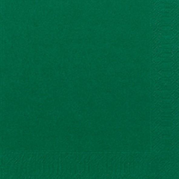 Papierservietten, Dunkelgrün, 33 x 33 cm