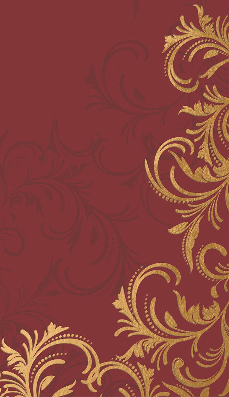 Mitteldecke Papier Rot Gold 84x84cm Grace Bordeaux Tischdeko