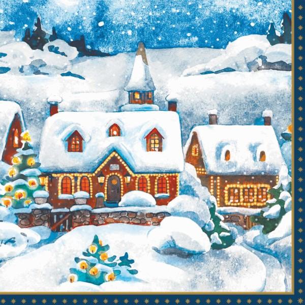 Papierservietten, Winter Village, 33x33cm