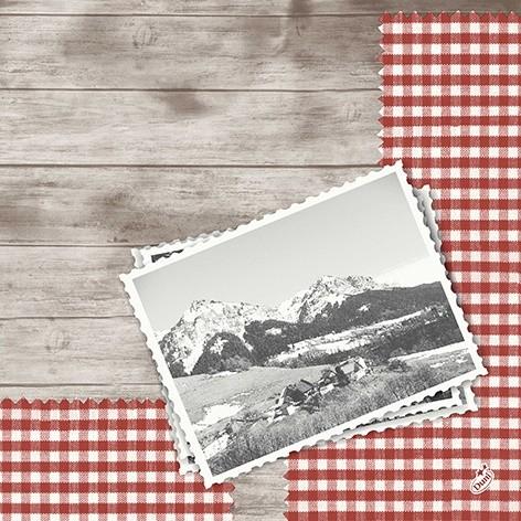 Papierservietten, rot, braun, 40x40cm, Mountain