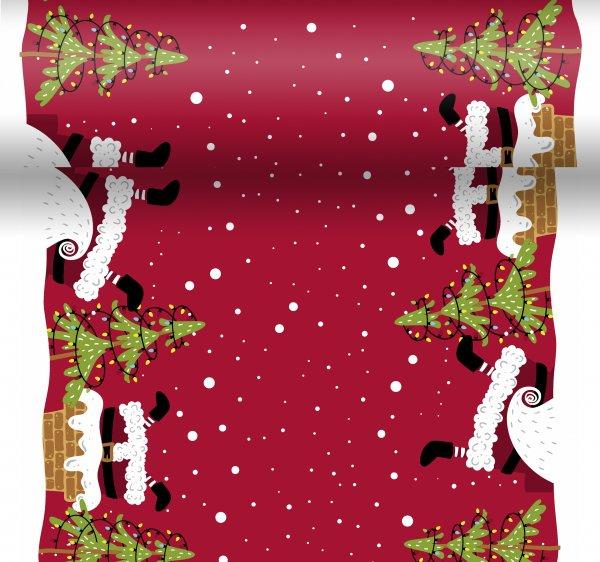 Tischset, Tischläufer, Tête-à-Tête Papier, Rot, 40 x 480 cm, Mood of Santas