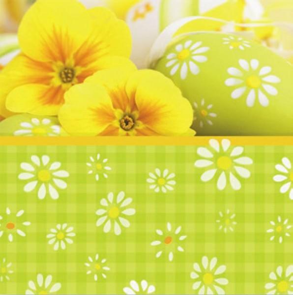 Papierservietten, grün, gelb, 33x33cm