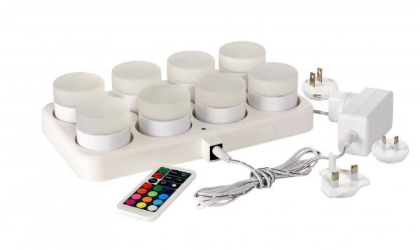 LED-Mini Lampe, 8er-Set, wiederaufladbar
