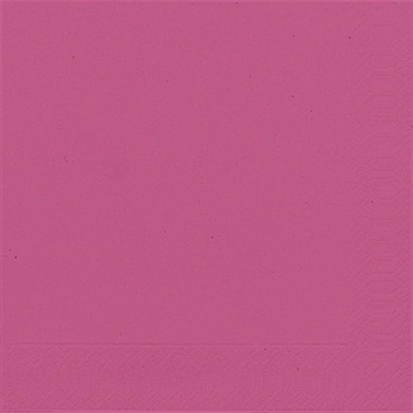 Papierservietten, pink, einfarbig, 33x33cm 20 Stk.