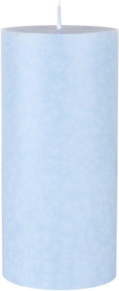 Stumpenkerze, hellblau, 15 x ø 7 cm, ca. 45 Std.
