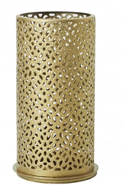 Kerzenhalter Bliss, Metall, gold, 140 x 75mm