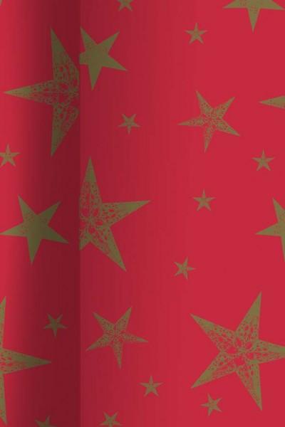 tischdecke papier rot gold 120x500cm tischdeko. Black Bedroom Furniture Sets. Home Design Ideas
