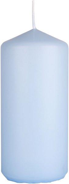 Stumpenkerze, hellblau, 15 x ø 7cm, ca. 62 Std.