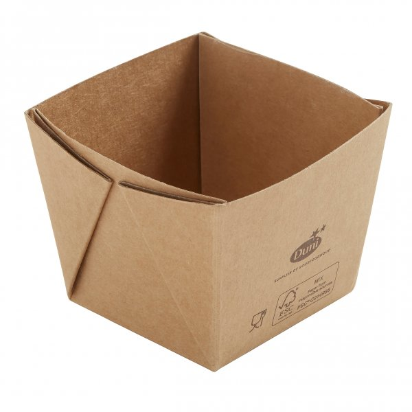 "Karton/PLA Box, Braun, 2,5 dl, ""Viking ecoecho Cube"""