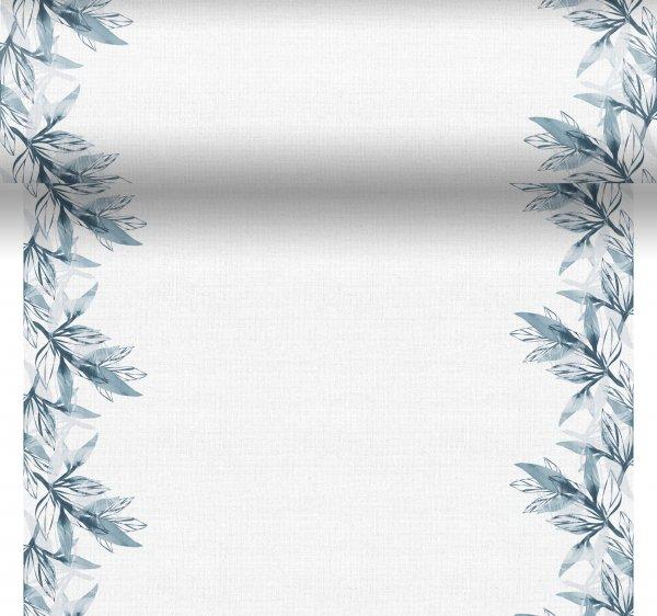 Tischset, Tischläufer, Tête-à-Tête Papier, Weiss, Blau, 40 x 480 cm