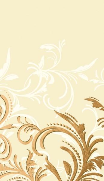 Tischdecke Papier, creme, gold, 138x220cm