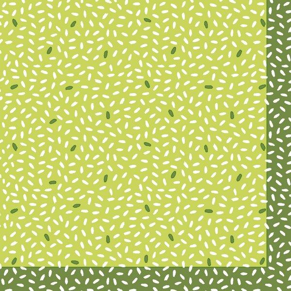 Papierservietten, Grün, 24 x 24 cm