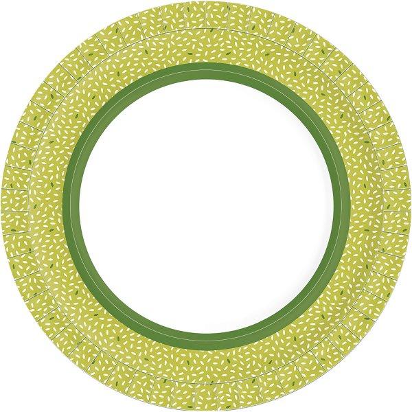 Bio Pappteller, grün, ø 22 cm