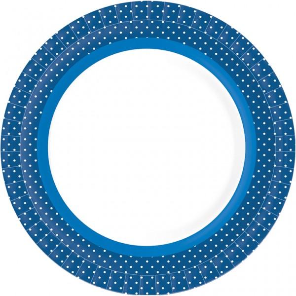 Pappteller rund, blau, ø 22cm