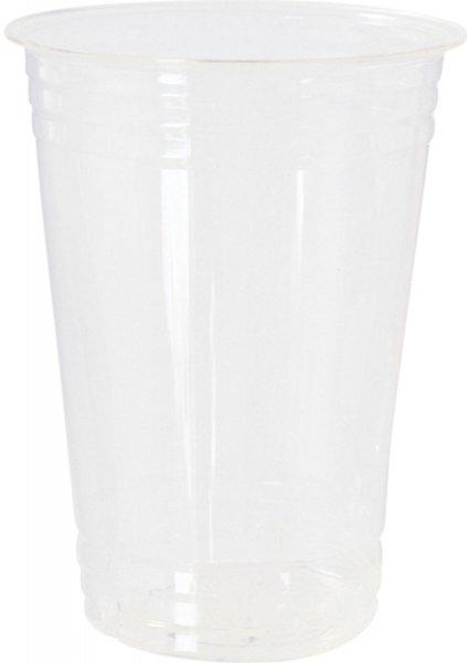 Bio Plastikgläser, transparent, 58 cl