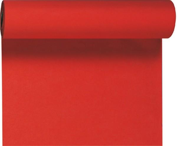 Tischset, Tischläufer, Tête-à-Tête Papier, rot, einfarbig, 40x480 cm