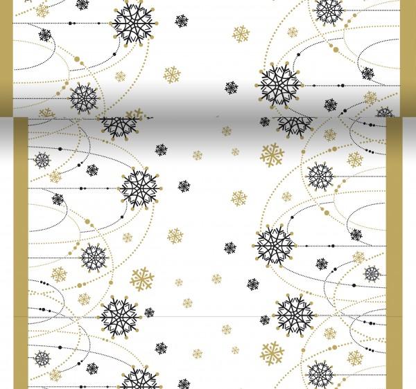 Tischset, Tischläufer, Tête-à-Tête Papier, Snow Necklace White, 40x480cm