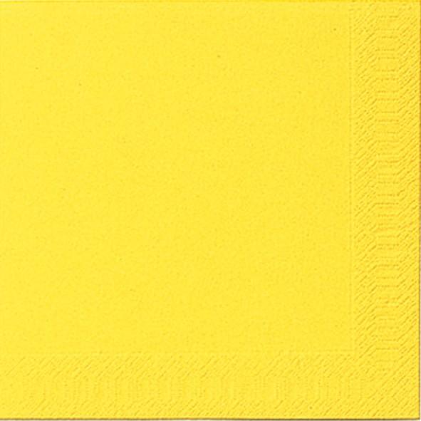 Papierservietten, gelb, 40x40cm, 20 Stk.