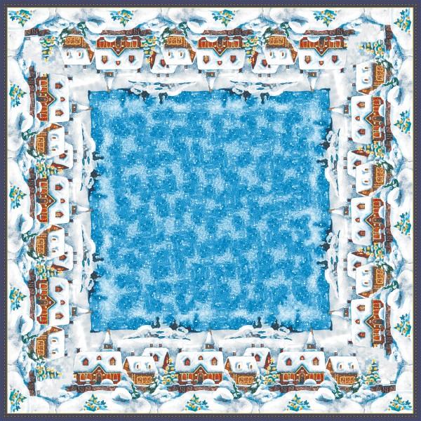 Mitteldecke Papier, Winter Village, 84x84cm