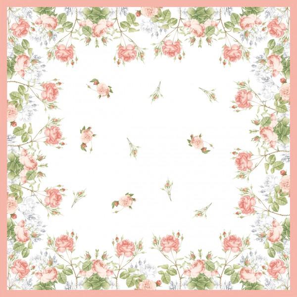 Mitteldecke Papier, Weiss, Rosa, 84 x 84 cm