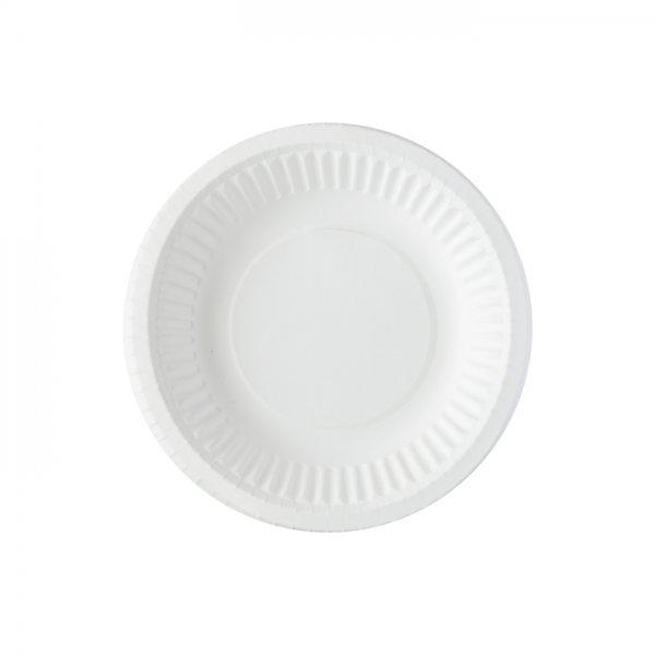 Bio tiefe Pappteller, Weiss, 35 cl, ø 18 cm