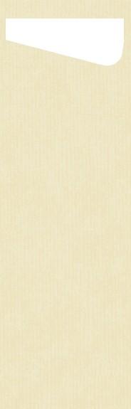 Bestecktasche Papier, mit Serviette, Crème, 7 x 23 cm