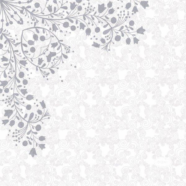 Papierservietten, Grau, 24 x 24 cm
